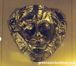 Gold funerary mask found in grave